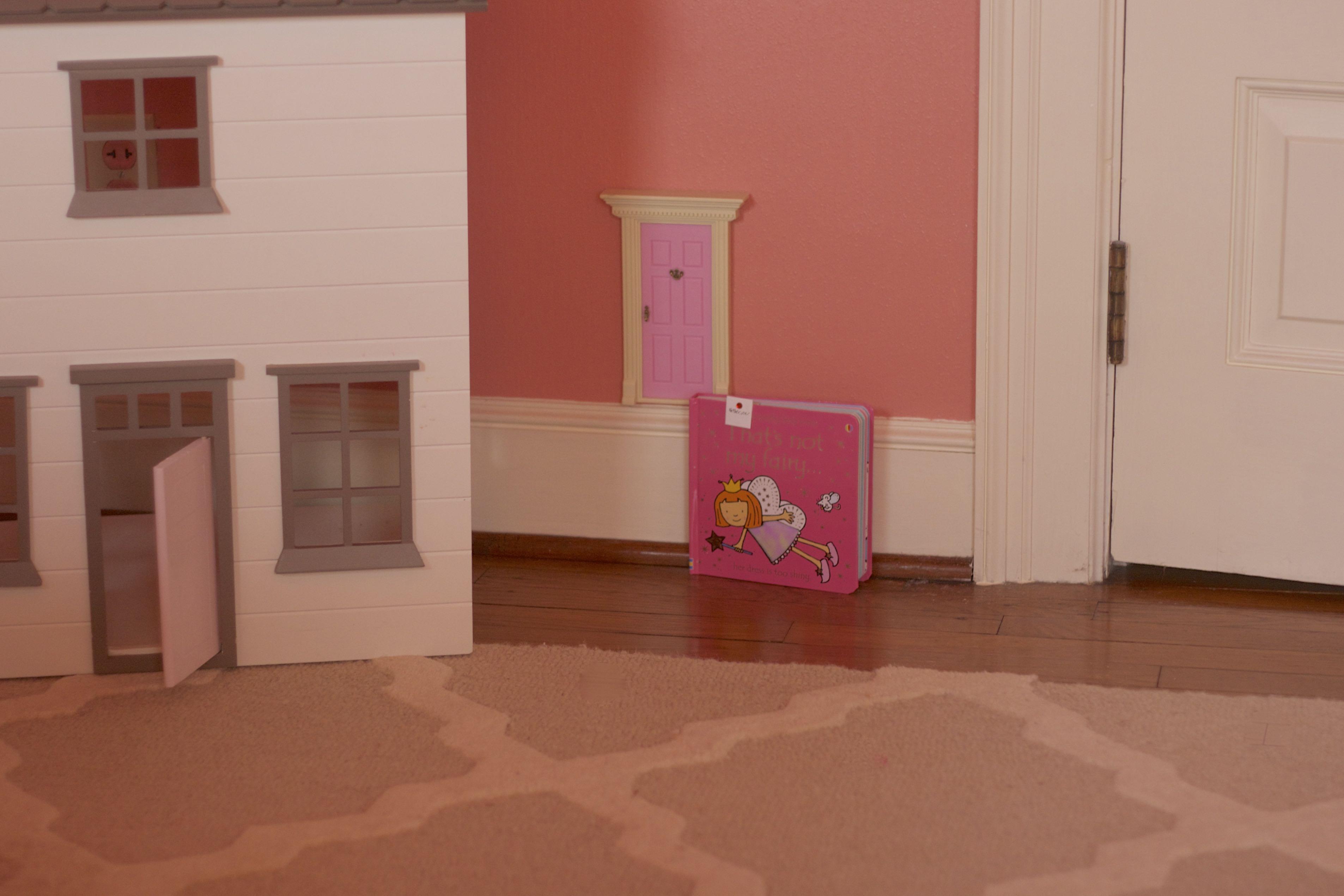 Pink lil fairy door pink door love for Idea behind fairy doors